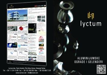 Liflet aluminijumskih ograda i gelendera u .pdf formatu - Lyctum