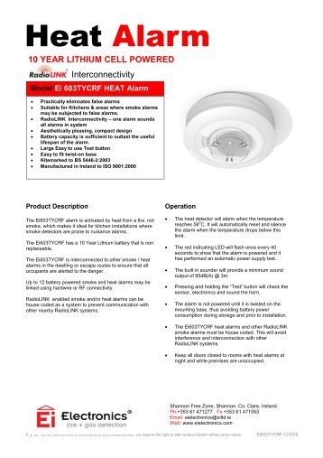 ei smoke alarm instructions