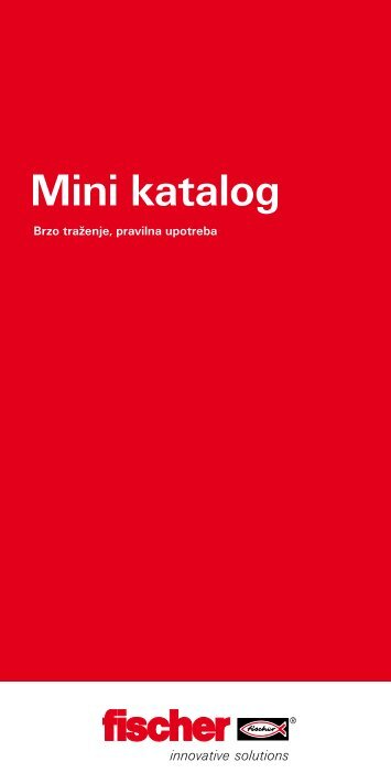 Mini katalog FISCHER proizvoda u .pdf formatu - Lyctum