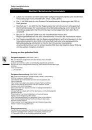 Merkblatt Meldeformular Vereinslokale