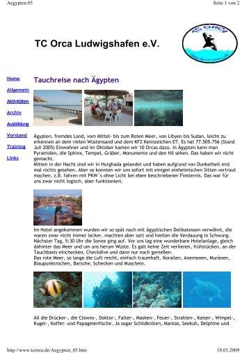 TC ORCA Tauchreise Aegypten 2005