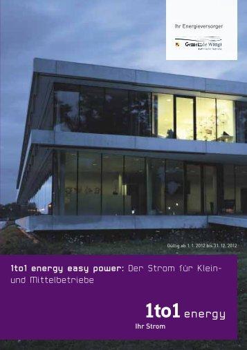 1to1 energy easy power: Der Strom für Klein ... - Gemeinde Wängi