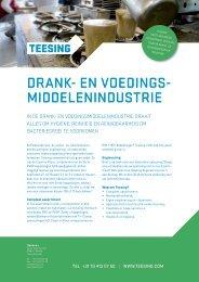 DRANK- EN VOEDINGS- MIDDELENINDUSTRIE - Teesing BV