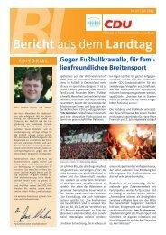 Bericht aus dem Landtag - Juli 2012 - Ernst-August Hoppenbrock