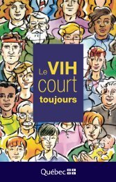Le VIH court toujours - Gouvernement du Québec
