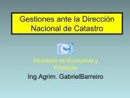 Gestiones ante la Dirección Nacional de Catastro