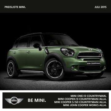 Preisliste mini. NOVEMBER 2013 mini one / D Countryman ... - Mini.ch