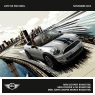 Liste de prix mini. NOVEMBRE 2013 mini cooper Roadster ... - Mini.ch