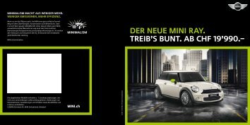 Der neue mini ray. Treib's bunt. ab CHF 19'990.– - Mini.ch