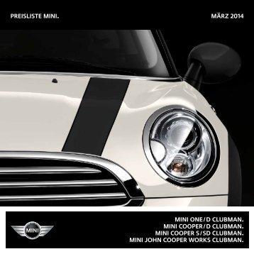Preisliste mini. NOVEMBER 2013 mini one / D Clubman ... - Mini.ch