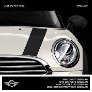 Liste de prix mini. NOVEMBRE 2013 mini one / D Clubman ... - Mini.ch