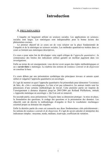 Introduction - La Faculté des Sciences Sociales de l'Université de ...