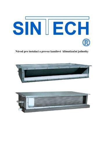 Návod pro instalaci a provoz kanálové klimatizační jednotky