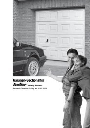 Garagen-Sectionaltor EcoStar® - Altoma