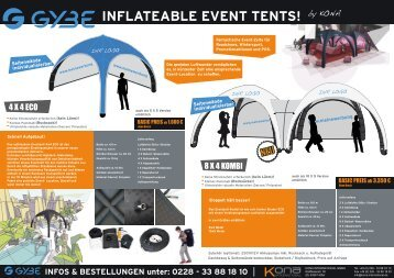 INFLATEABLE EVENT TENTS! - cona