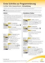 Kurzanleitung Anpass-Software - Cochlear Baha
