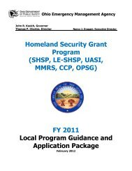 FY 2011 Local Program Guidance and Application Package - Ohio ...