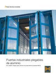 Puertas industriales plegables de aluminio - EIRINHAS