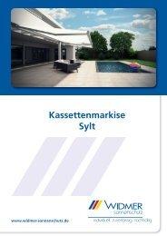 Kassettenmarkise Sylt - Oskar Widmer GmbH