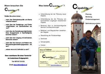 Capability - Mediation ohne Barrieren