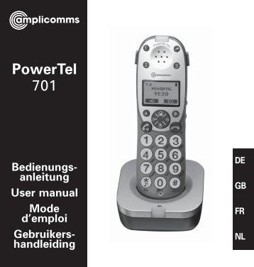 PowerTel 701 User Guide - Hearing Direct