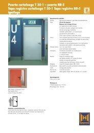 Puerta cortafuego T 30-1 - EIRINHAS