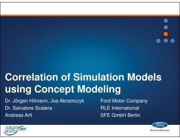 Correlation of Simulation Models using Concept Modeling