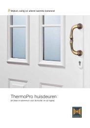 ThermoPro huisdeuren - Vrancken - Ramen, deuren en glaswerk