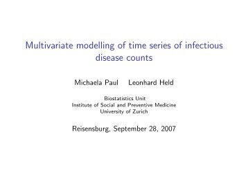 Multivariate modelling of time series of infectious disease counts