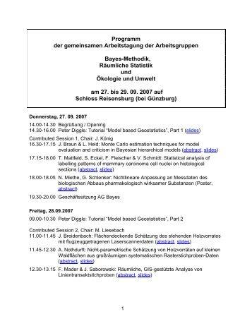 Gemeinsame Tagung mit den AGs Bayes-Methodik und Ökologie ...