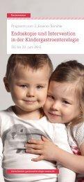 Endoskopie und Intervention in der Kindergastroenterologie