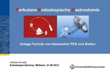 PEG-Button, Arnoldy, Endoskopieseminar 2012 - Kinder ...