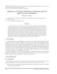 Application of Geodetic VLBI Data to Obtaining Long-term Light ... - IVS