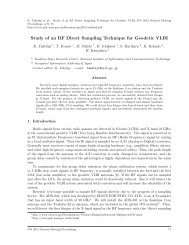 Study of an RF Direct Sampling Technique for Geodetic VLBI - IVS