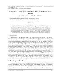 Comparison Campaign of VLBI Data Analysis Software ... - VieVS