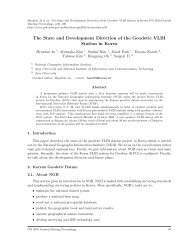 The State and Development Direction of the Geodetic VLBI ... - IVS