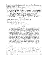 Multiple Antenna Radio-interferometry for Baseline Length ... - IVS