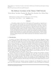 The Software Correlator of the Chinese VLBI Network - IVS