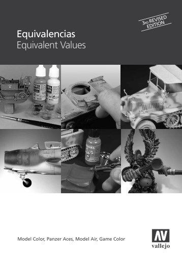 Equivalencias Equivalent Values - Vallejo Farben