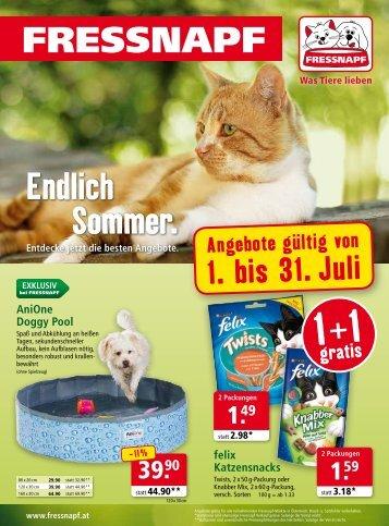 Fressnapf Österreich Flugblatt Juli 2015