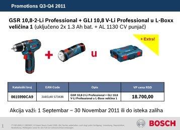 Promotions Q3-Q4 2011