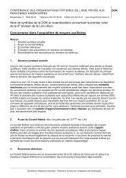 Note de synthèse de la DOK et revendications concernant le ... - Agile