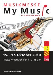 Ausstellerfolder - My Music Friedrichshafen
