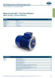 Elektromotoren-Katalog IE3