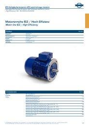 Elektromotoren-Katalog IE2