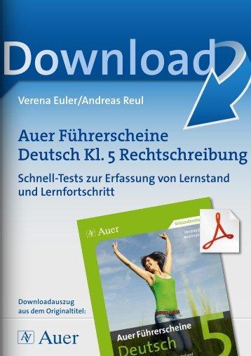 Auer Führerscheine Deutsch Kl. 5 Rechtschreibung