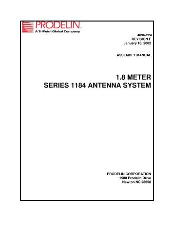 1.8 meter series 1184 antenna system - Constellation Networks ...