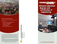 Distance Education Degrees and Certificates in Engineering