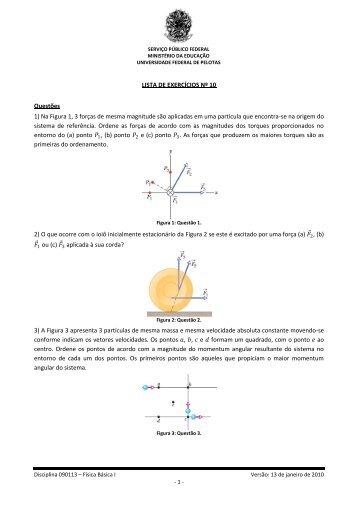 Lista de Exercícios Nº 10 - Chasqueweb.ufrgs.br