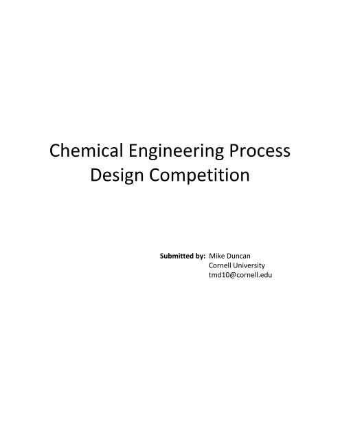 P100 - Chemical Engineering Process Design     - Discovery Press